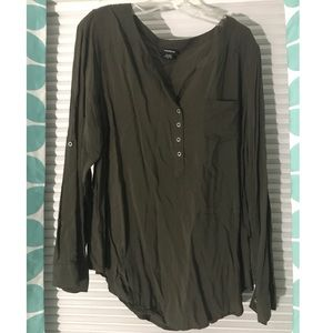 Green blouse Torrid size 2
